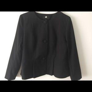 H&M black waist jacket.
